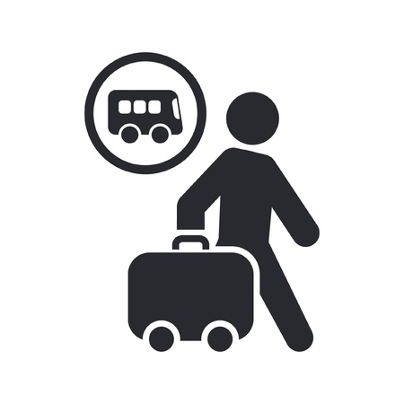 Vector illustration of single isolated travel icon Stock Vector - 12121874