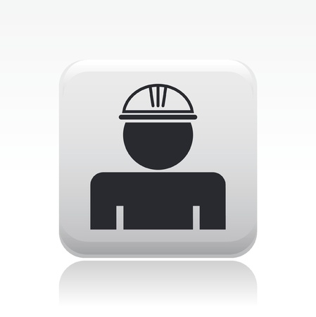 insure: Vector illustration of single isolated worker icon Illustration