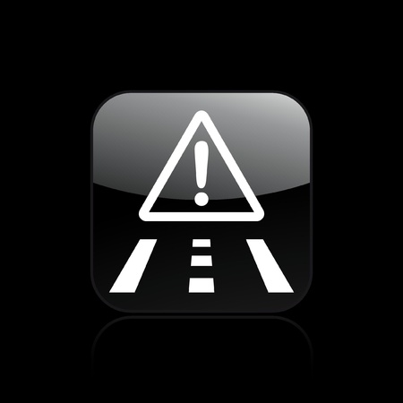 Vector illustration of single isolated danger road icon Vector