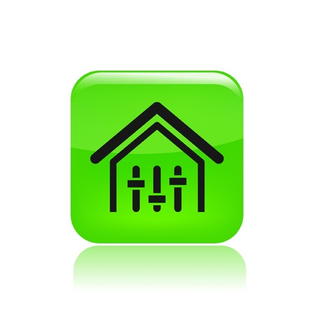 potentiometer: Vector illustration of single isolated house levels icon