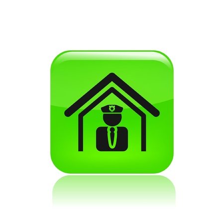 Vector illustration of single isolated police icon Stock Vector - 12123333