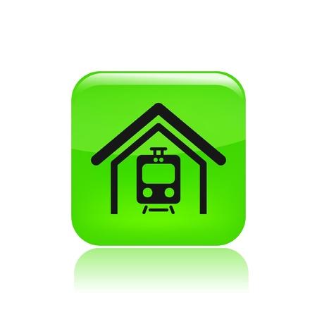railcar: Vector illustration of single isolated train icon