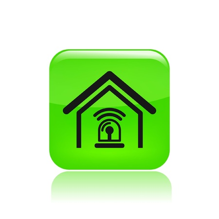 Vector illustration of single isolated station alarm icon  Vector