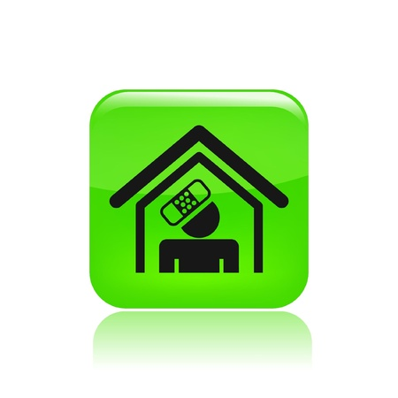 Vector illustration of single isolated home accident icon Stock Vector - 12129356