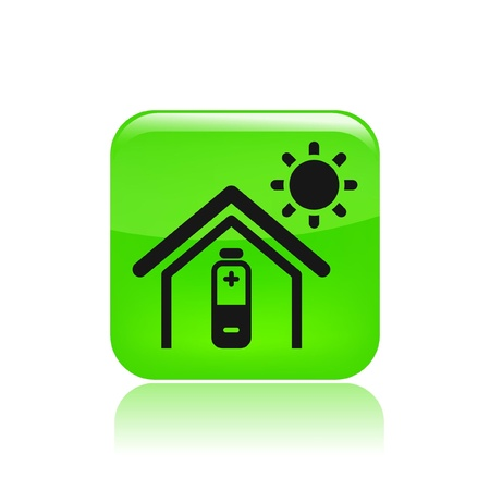 bioenergy: Vector illustration of single isolated bioenergy icon