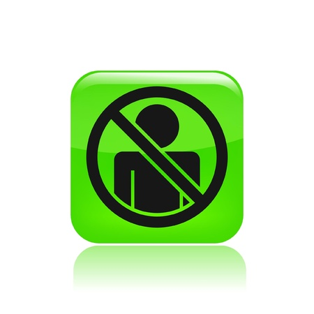 Vector illustration of single isolated access forbidden icon