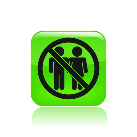 exclude: Vector illustration of single isolated couple banned icon  Illustration