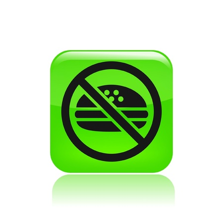 exclude: Vector illustration of single isolated no food icon  Illustration