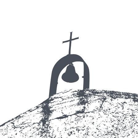 Vector Illustration der Kirche Schmutzentwurf