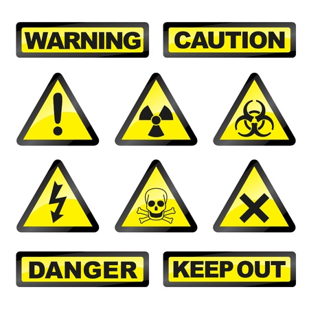 bacteriological: Vector illustration of single isolated danger industry icons