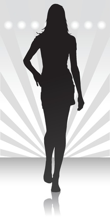 Vector illustration of single isolated fashion parade icon