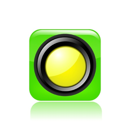 Vector illustration of single isolated yellow light icon Stock Vector - 12121616