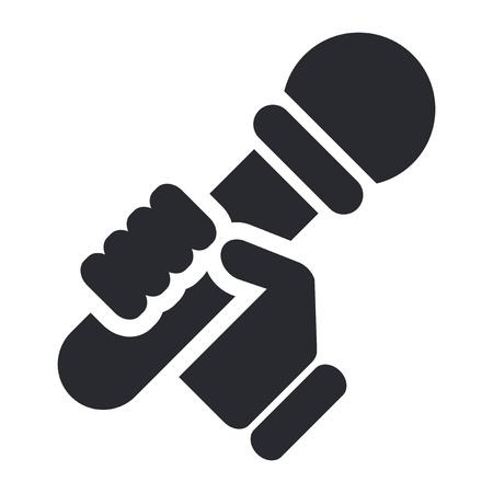 Vector illustration of single isolated karaoke icon  Ilustração