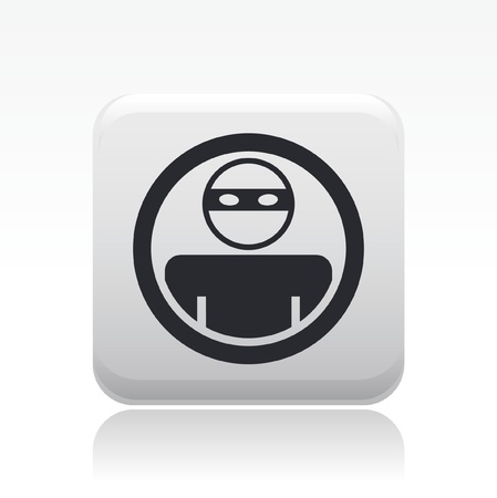 Vector illustration of single isolated thief icon