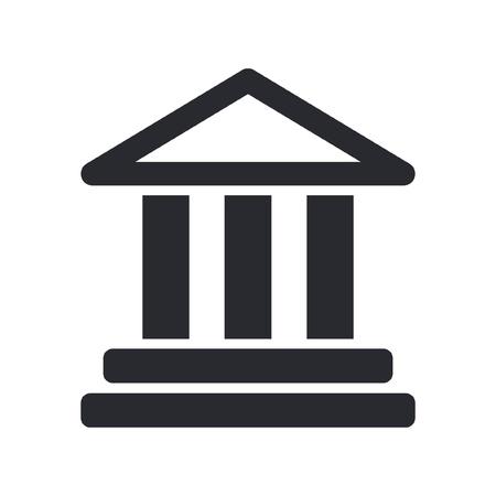 templo griego: Ilustración vectorial de un solo ícono templo aislado