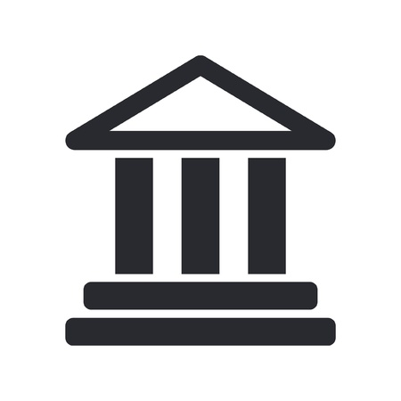 columns: Vector illustration of single isolated temple icon