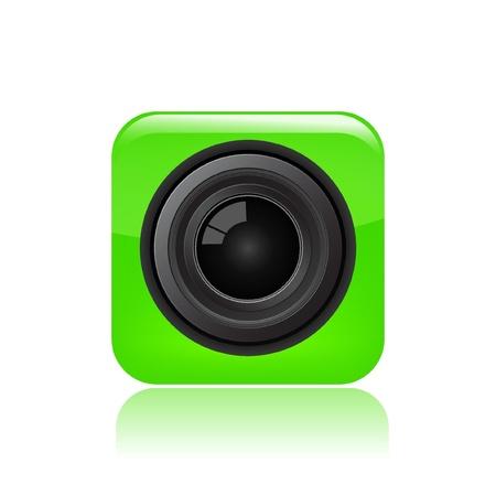 Vector illustration of single isolated camera eye icon
