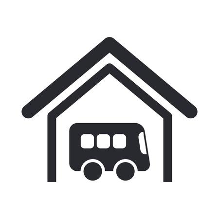 fermata bus: Illustrazione vettoriale di sola icona bus isolato