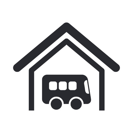 Vector illustration of single isolated bus icon