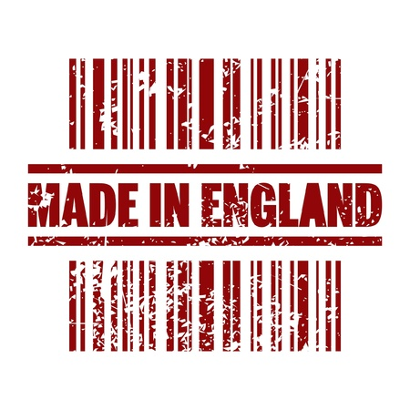 Vector illustration of single isolated Made in England icon  Vector