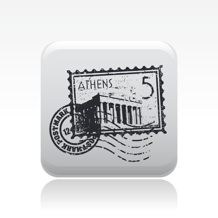 Vector illustration of single isolated athens icon
