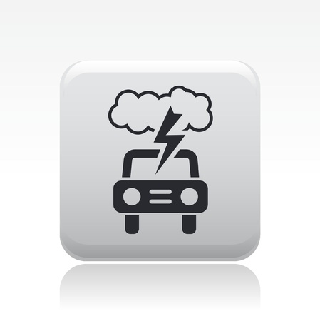 Vector illustration of single isolated danger car icon  Stock Vector - 12126884