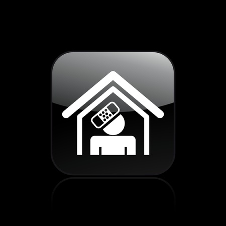 at home accident: Vector illustration of single isolated home accident icon