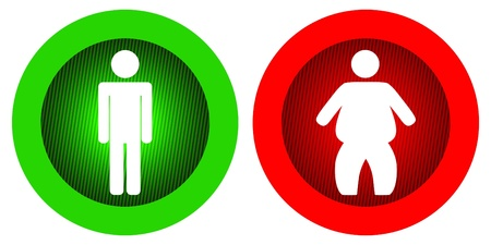 light signal: Vector illustration of single isolated diet icon