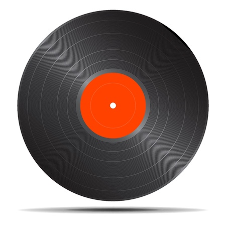 dee jay: Vector illustration of single isolated vinyl icon