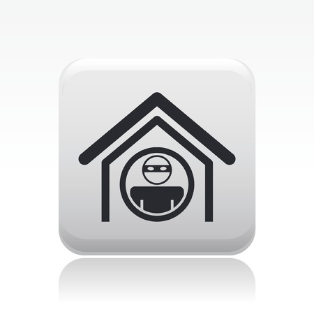 thug: Vector illustration of single isolated home thief icon