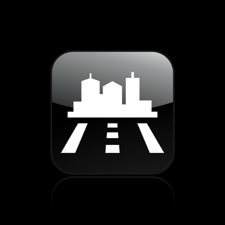 to navigate: Vector illustration of single isolated navigate icon