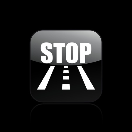 Vector illustration of single isolated road stop icon  Stock Vector - 12129019