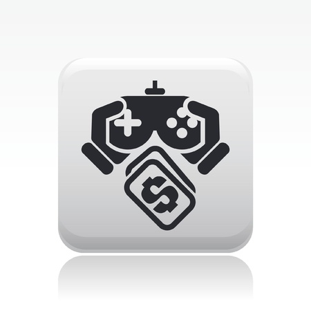 videogame: Vector illustration of single isolated videogame pay icon  Illustration