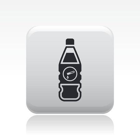Vector illustration of single isolated dangerous bottle icon Stock Vector - 12126977