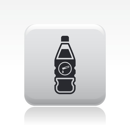 Vector illustration of single isolated dangerous bottle icon Stock Vector - 12126977