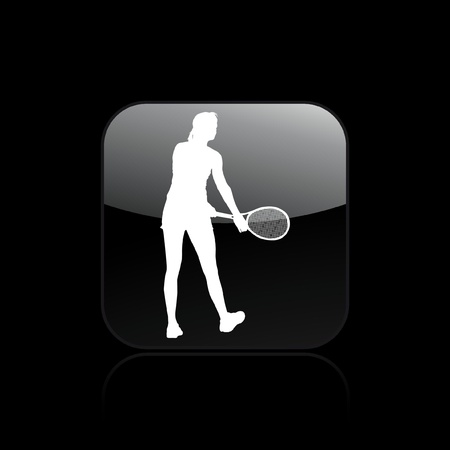 Vector illustration of single isolated tennis icon  Stock Vector - 12129180