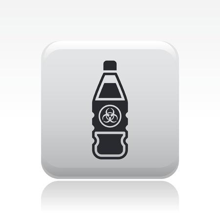 Vector illustration of single isolated dangerous bottle icon Stock Vector - 12127035