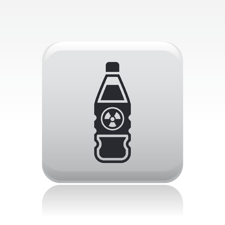 Vector illustration of single isolated nuclear bottle icon Stock Vector - 12126885