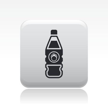 Vector illustration of single isolated dangerous bottle icon Stock Vector - 12126989
