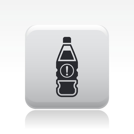 Vector illustration of single isolated dangerous bottle icon Stock Vector - 12126824