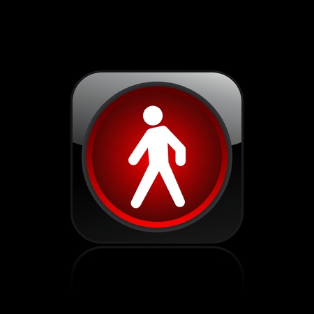 precedence: Vector illustration of single isolated pedestrian traffic light icon