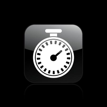 chronometer: Vector illustration of single isolated chronometer icon  Illustration