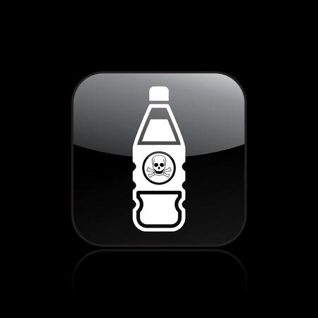 Vector illustration of single isolated dangerous bottle icon Stock Vector - 12121424