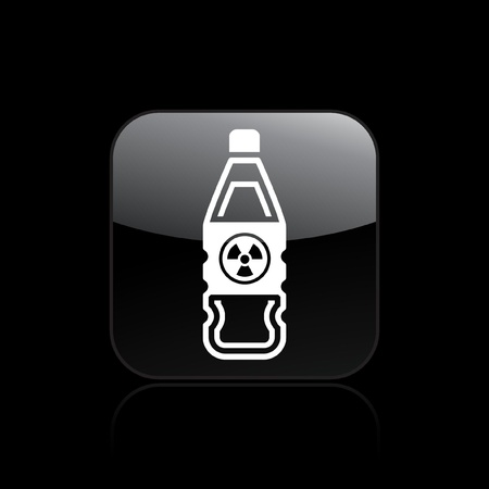 Vector illustration of single isolated nuclear bottle icon Stock Vector - 12121407