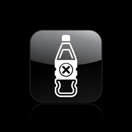 Vector illustration of single isolated dangerous bottle icon Stock Vector - 12121405