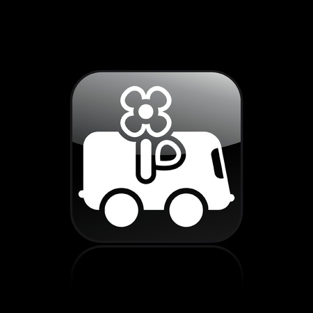 Vector illustration of single isolated flower delivery icon