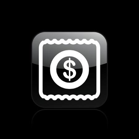 Vector illustration of single isolated pay icon  Illusztráció