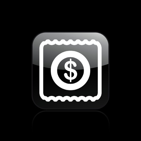 Vector illustration of single isolated pay icon Stock fotó - 12129111