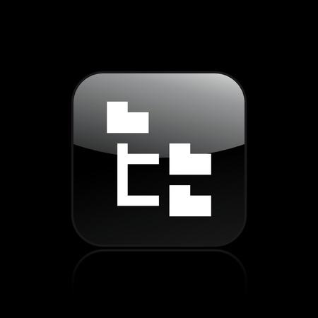 Vector illustration de la seule icône pixel pc isolé