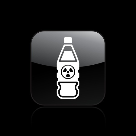 Vector illustration of single isolated nuclear bottle icon Stock Vector - 12121376